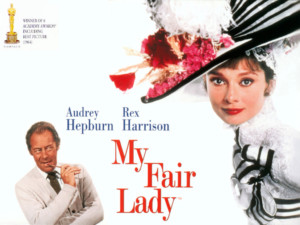 My Fair Lady poster with Audrey Hepburn and Rex Harrison